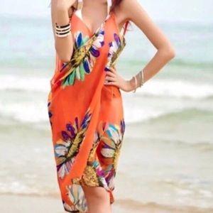 Other - ORANGE BEACH cover up bathing suit wrap DRESS swim